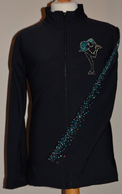 Adult Fitted Thermal Jacket with Rhinestud Design